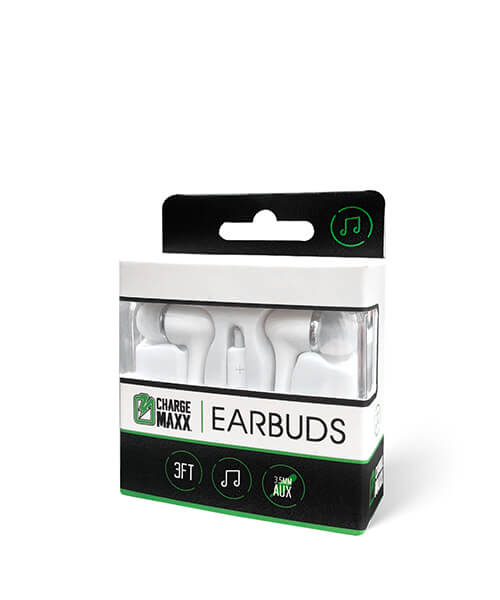 Charge Maxx Earbuds White Premium