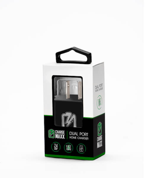 DUAL PORT USB WALL CHARGER 2.4AMP